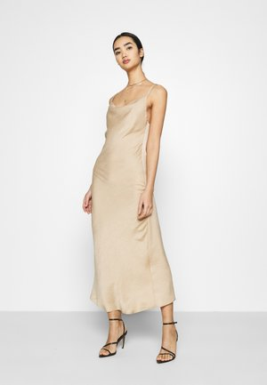 VMCENTURY OPEN BACK DRESS - Ballkjole - gilded beige