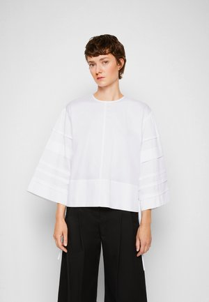 LAYER DETAIL OVERSIZED TOP - Blouse - white