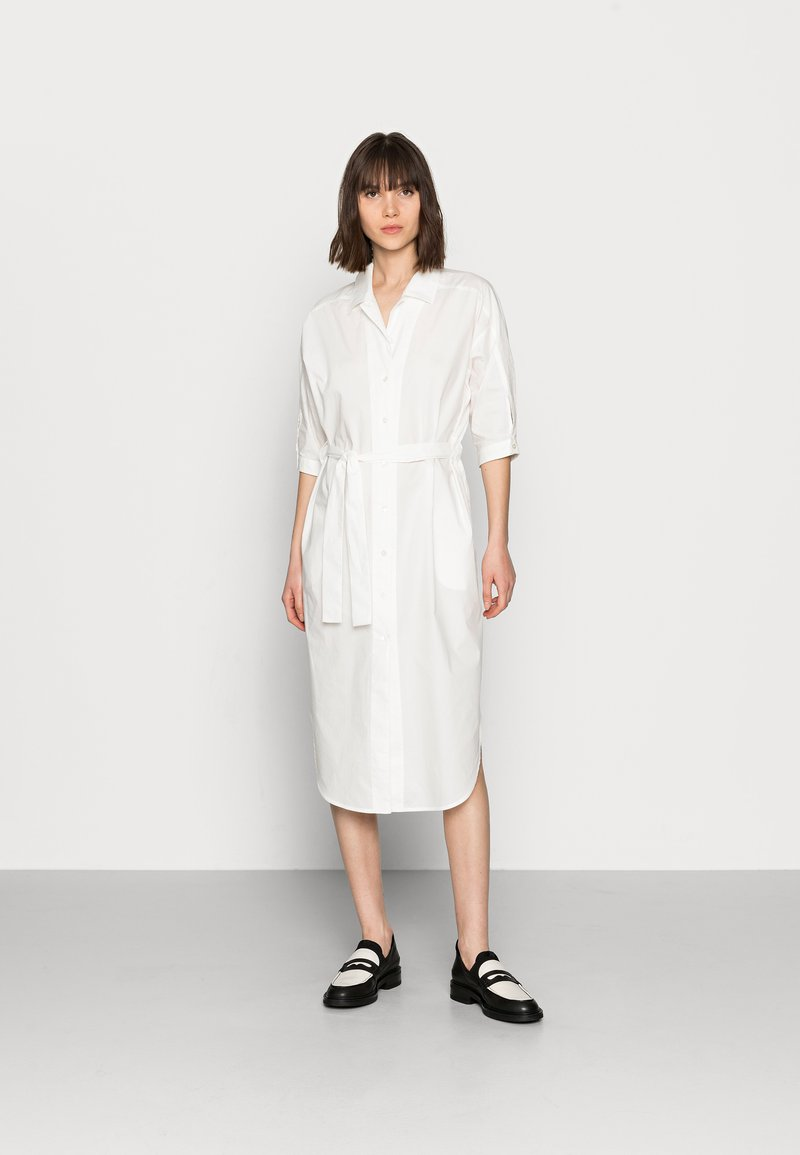 Mos Mosh - ASLAUG SHIRT DRESS - Košilové šaty - offwhite