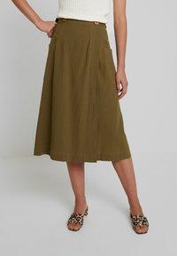 Louche - ARI - A-line skirt - khaki - 0