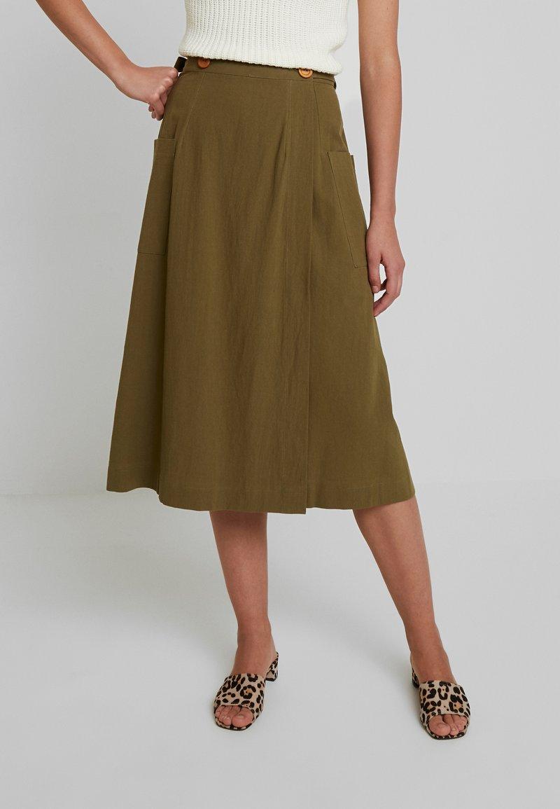 Louche - ARI - A-line skirt - khaki
