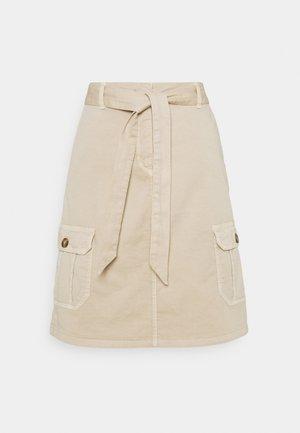 SKIRT SHORT - Denim skirt - seashell beige