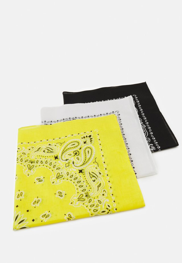 BANDANA 3 PACK UNISEX - Šátek - black/yellow/white