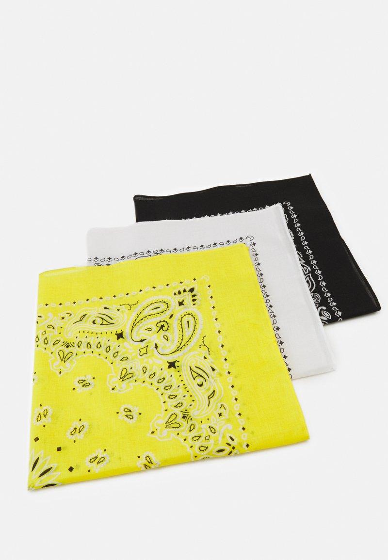 Urban Classics - BANDANA 3 PACK UNISEX - Skjerf - black/yellow/white