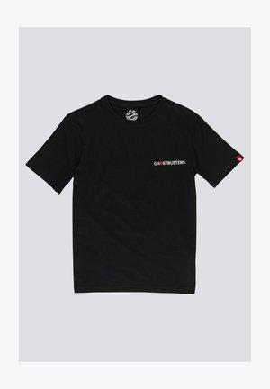 Print T-shirt - flint black
