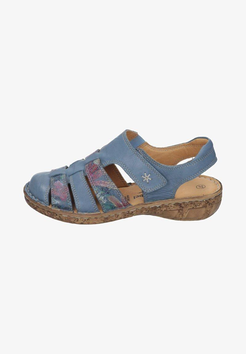 Comfortabel - Ankle strap ballet pumps - blau
