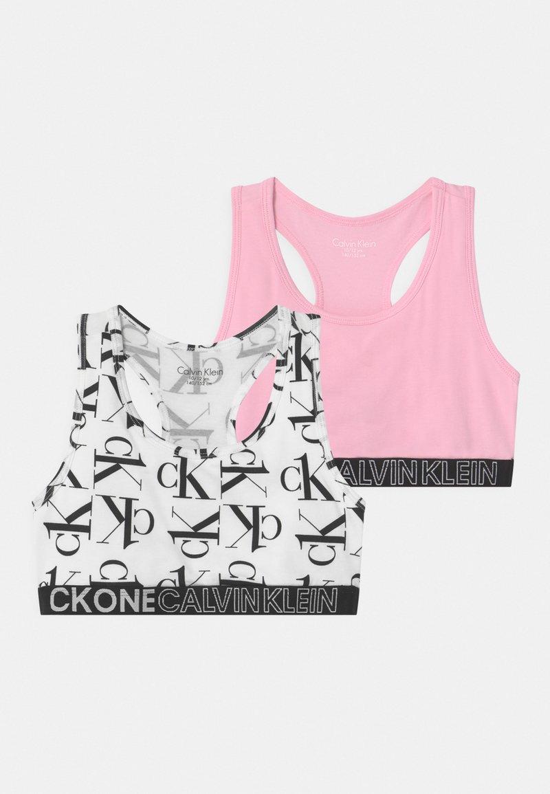 Calvin Klein Underwear - 2 PACK - Bustier - white/romanticpink