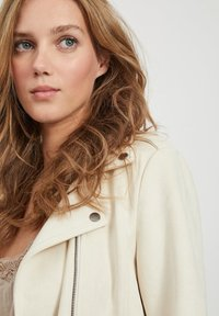 Vila - Faux leather jacket - birch - 3