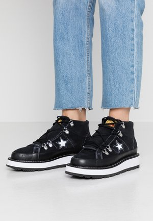 ONE STAR LINED - Ankelboots - black/white