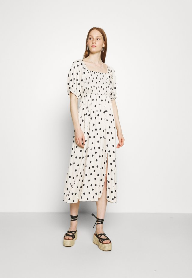 DORA SHORT DRESS - Korte jurk - offwhite/black