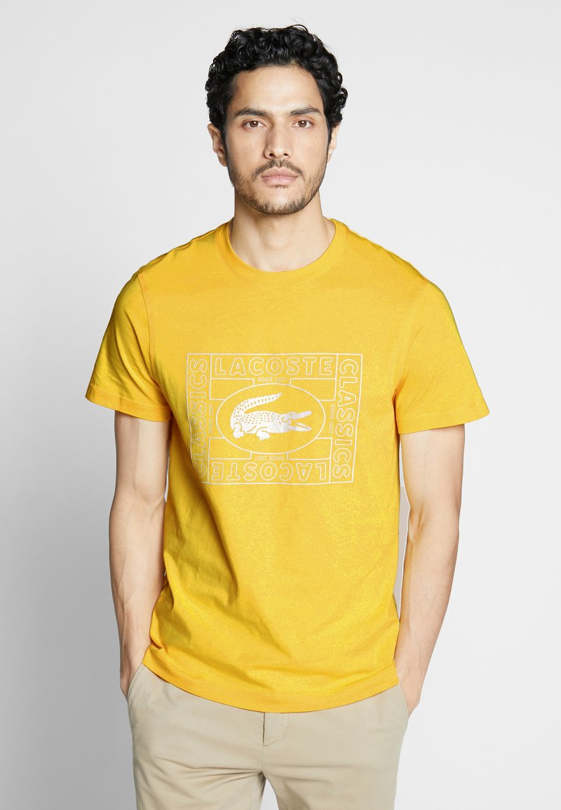 Lacoste - TH5097-00 - Print T-shirt - yellow