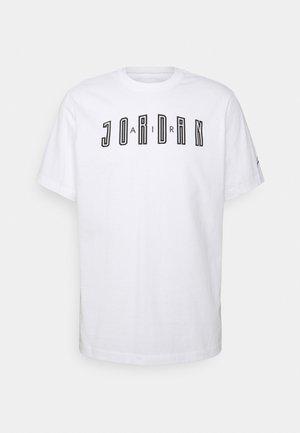 CREW - T-shirt con stampa - white/iron grey/black
