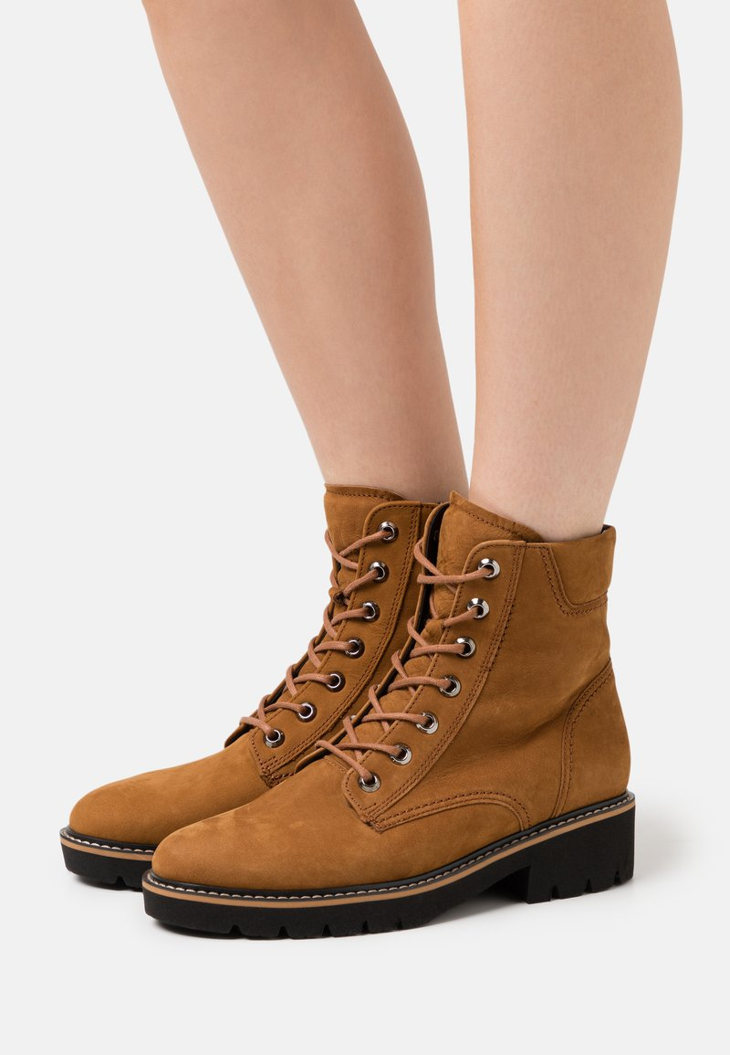 Gabor Comfort - Lace-up ankle boots - copper