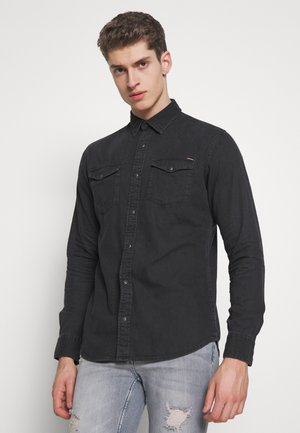JJESHERIDAN SLIM - Shirt - black denim