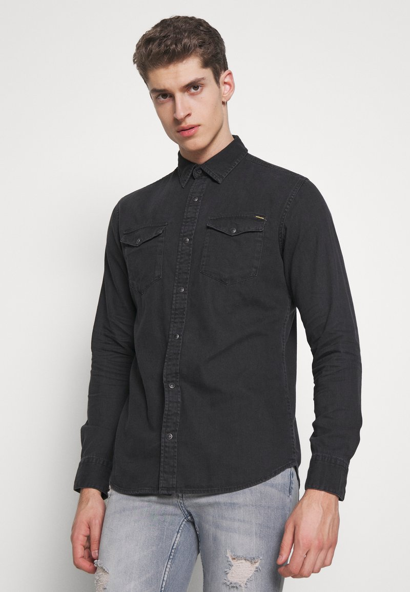 Jack & Jones - JJESHERIDAN SLIM - Shirt - black denim