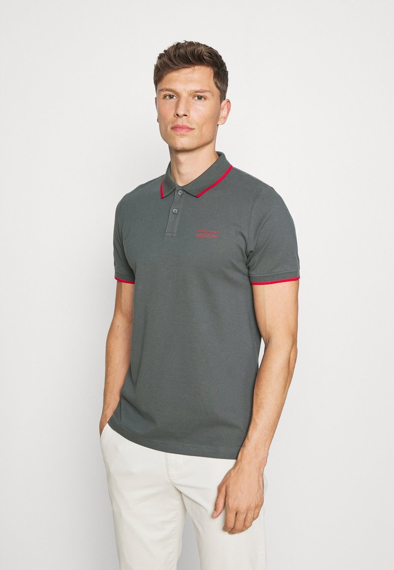 s.Oliver - TIPPING - Poloshirt - grey