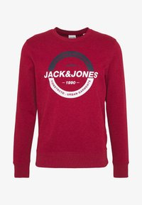 Jack & Jones - JCOSTRONG CREW NECK - Sweatshirt - rio red/melange - 3