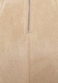 Vila - VIFADDYPEN SKATER SKIRT - A-line skirt - brown - 2