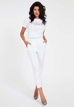 APPLICATIONS-BIJOU - T-shirt z nadrukiem - blanc