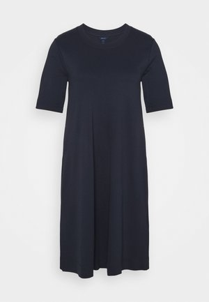 A LINE DRESS - Jerseykjole - evening blue