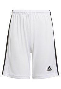 adidas Performance - SQUAD UNISEX - Krótkie spodenki sportowe - white - 0