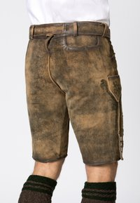 Stockerpoint - WIGGAL - Leather trousers - beige - 5