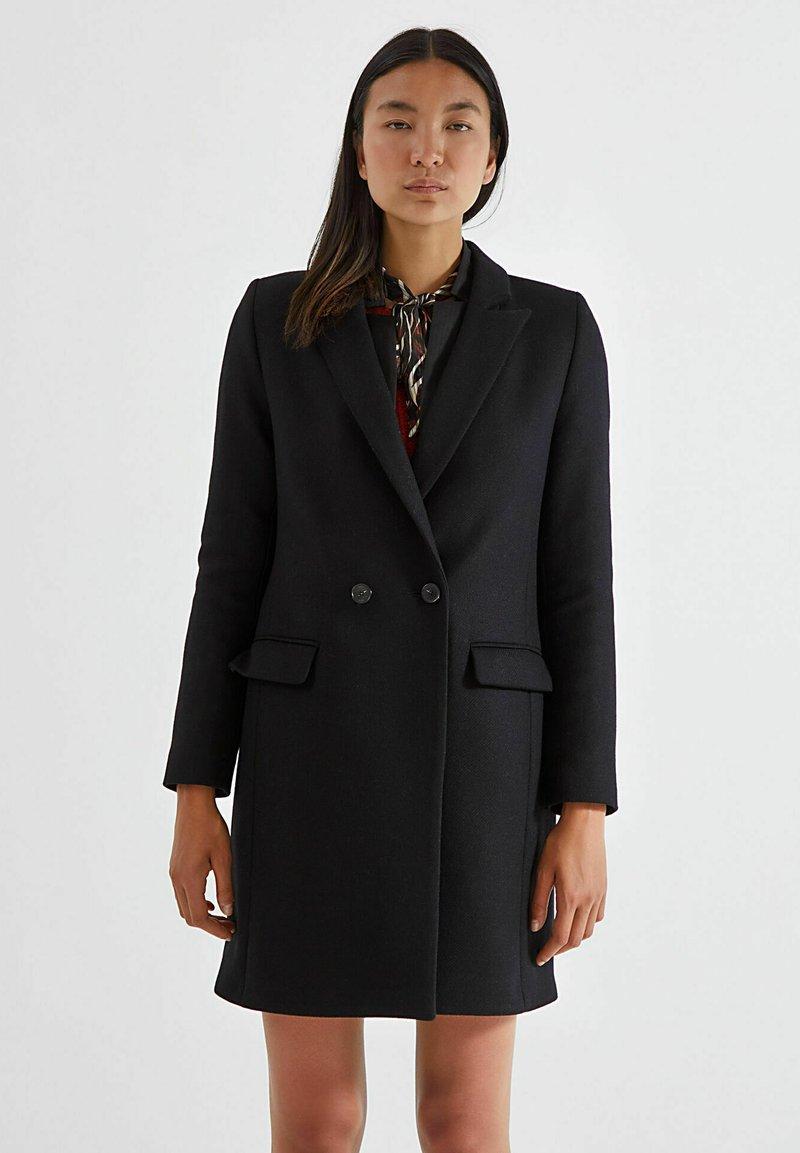 IKKS - CHEVRON WOOL RICH CITY - Short coat - noir