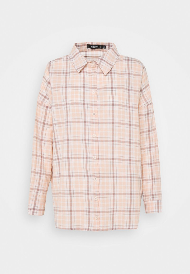 Missguided - CHECK - Button-down blouse - pink