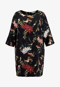 ONLY Carmakoma - CARLUXANNA KNEE DRESS - Day dress - black flower - 5