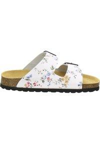 AFS Schuhe - ZWEISCHNALLER - Slippers - weiss-flower - 4