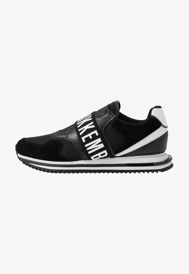 HALED - Slippers - black/white