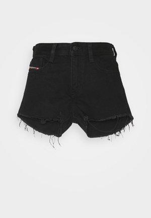 DE-RIFTY - Denim shorts - denim black