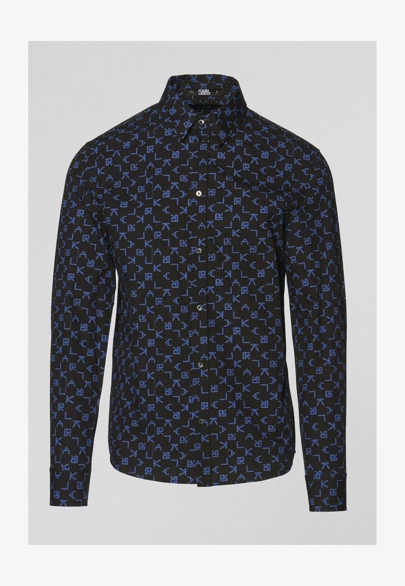 KARL LAGERFELD - Košile - p tetris blac