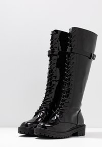 RAID Wide Fit - WIDE FIT  - Lace-up boots - black highshine - 4