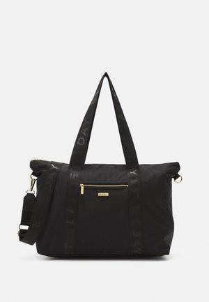 LOGO BAND CROSS BAG - Tote bag - black