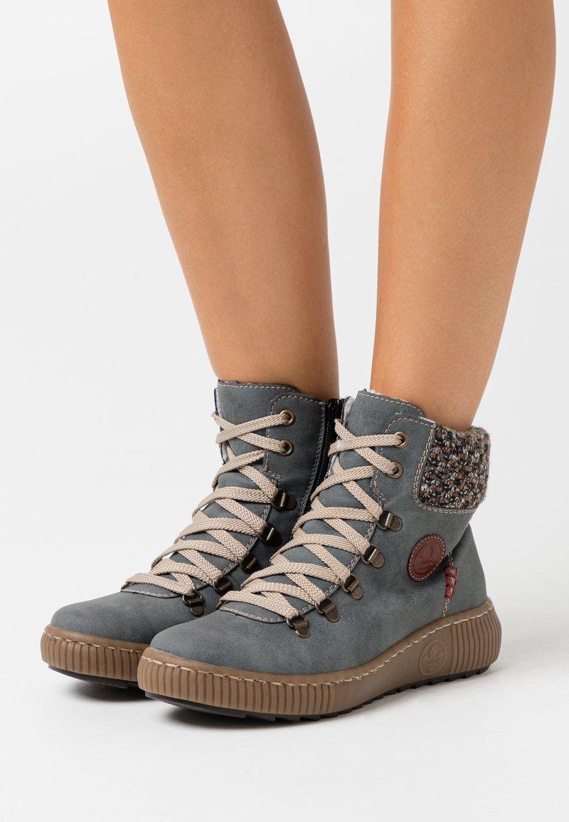Rieker - Winter boots - jeans/terra/wine