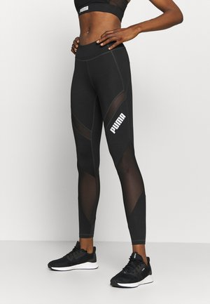 PAMELA REIF X PUMA COLLECTION MID WAIST - Leggings - black