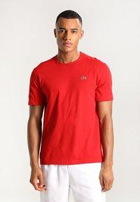 Lacoste Sport - HERREN - Basic T-shirt - red - 0