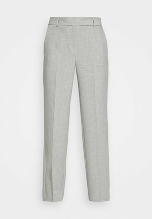 SLFRITA WIDE PANT - Trousers - light grey melange