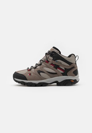 RAVUS VENT LITE MID WATERPROOF - Obuwie hikingowe - cool grey/red/black