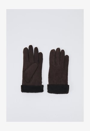 Gloves - dark brown