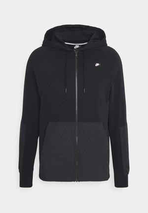 HOODIE - veste en sweat zippée - black