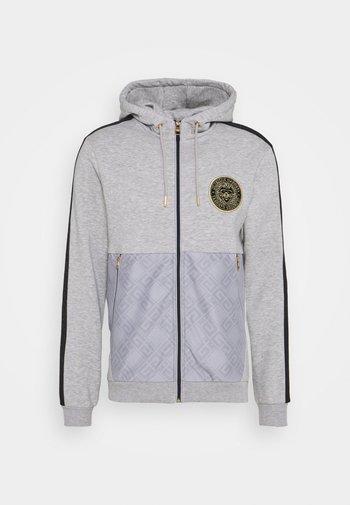 ABELLO ZIP THROUGH HOOD - Zip-up sweatshirt - grey marl