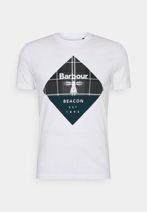 BECKER TEE - T-shirts med print - white