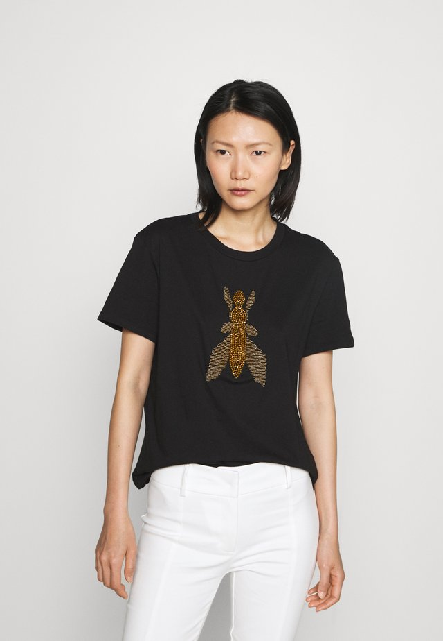 T-shirt imprimé - nero/gold