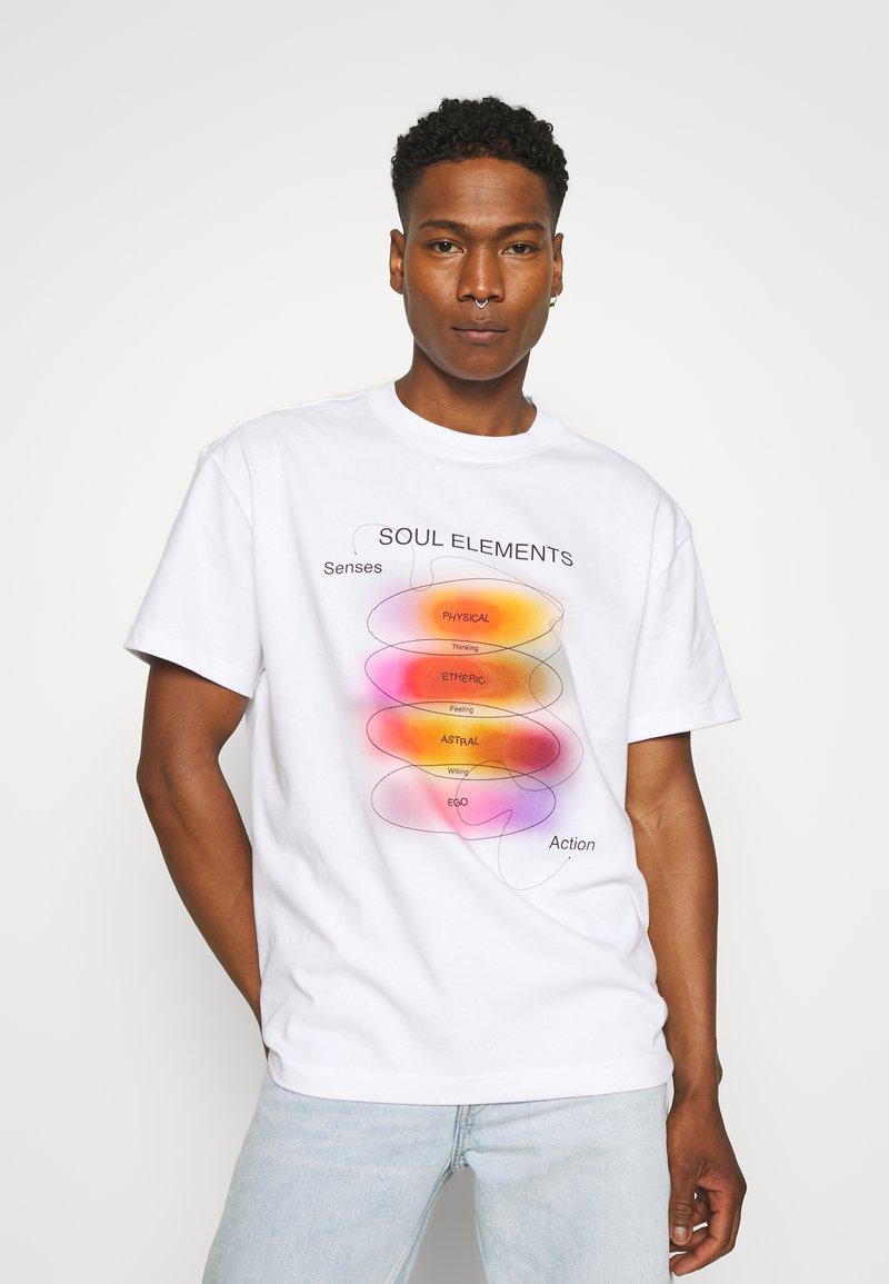 Weekday - STEFY - Print T-shirt - off white