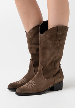 PSSALWA - Cowboy/Biker boots - taupe gray