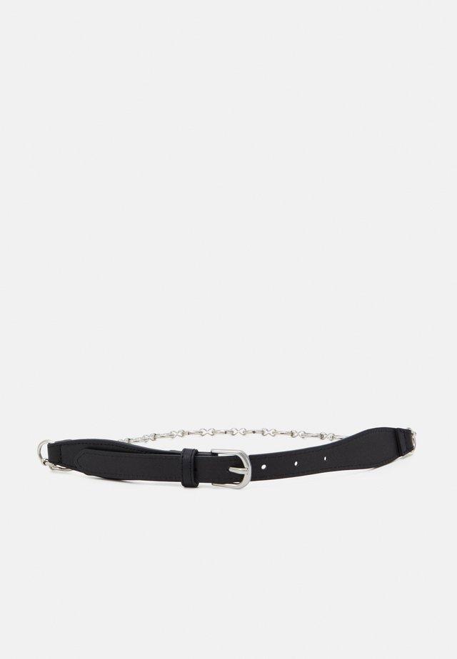 PCILLA WAIST BELT - Waist belt - black/silver-coloured