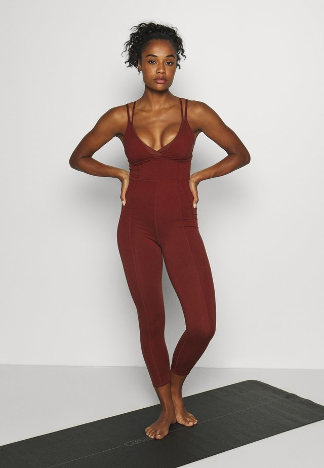 TAKE ME AWAY ONESIE - Gym suit - dark red