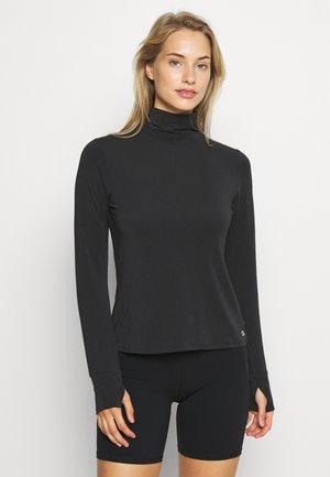 BREATHE TURTLENECK - Sports shirt - true black
